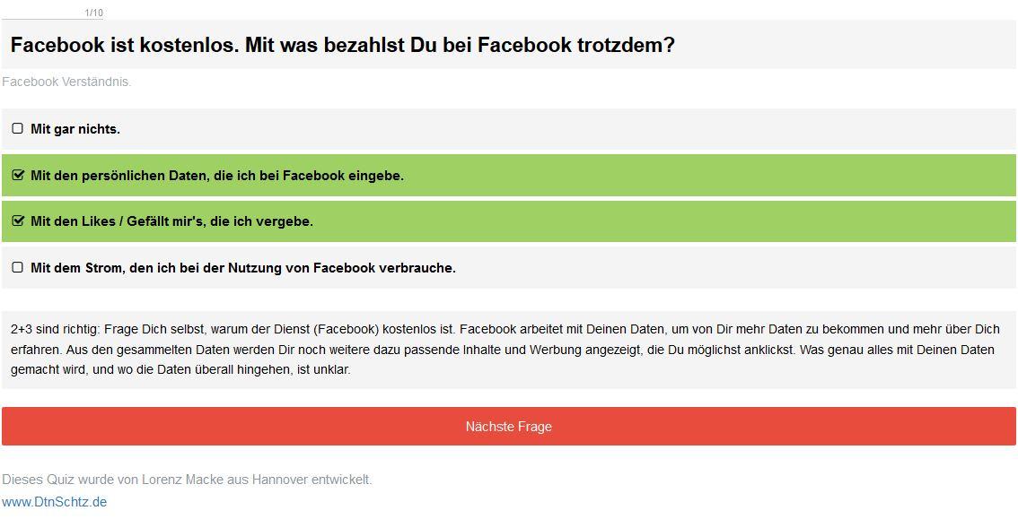 Safer Internet Day Facebook Quiz