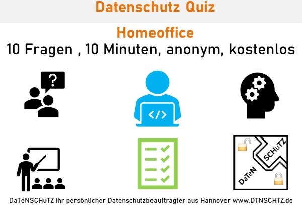 Kostenloses Quiz Homeoffice Datenschutz