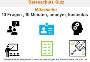 Kostenloses Quiz Mitarbeiter Datenschutz
