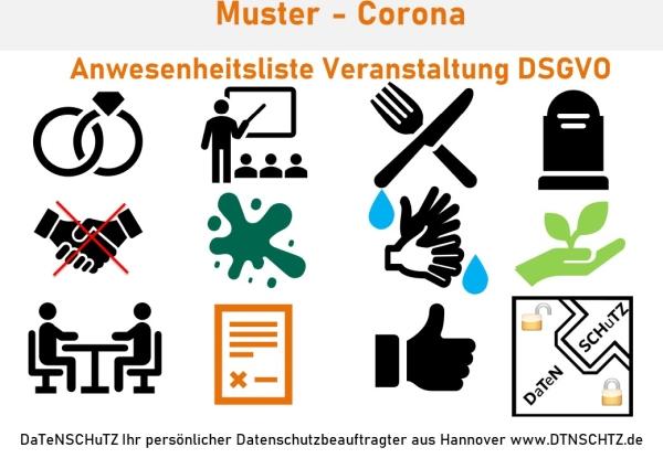 Kostenloses Muster Datenschutz Corona Anwesenheit Gesundheitsamt