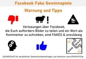 Facebook Fake Gewinnspiele Warnung Tipps