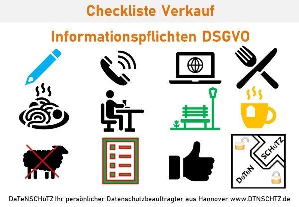 Checkliste Bestellung und Verkauf Informationspflichten DSGVO