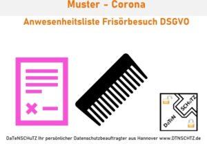Kostenloses Muster Frisörbetrieb Anwesenheit Corona