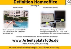 2021.01.20 Home Office Pflicht und Tipps